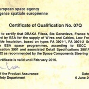 ESA renews its trust in Draka Fileca